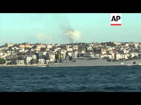 Two more Russian ships pass through the Bosporus