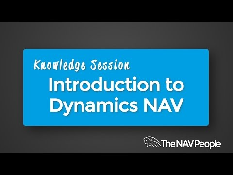 Knowledge Session - Introduction to Dynamics NAV 2016