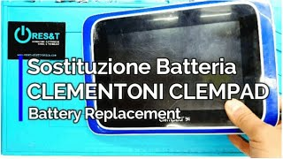 Sostituzione Batteria CLEMPAD CLEMENTONI V38190 - Replacement Disassembly Repair Battery Guide -