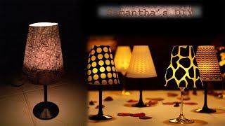 Wine glass candle Lamp Pinterest DIY