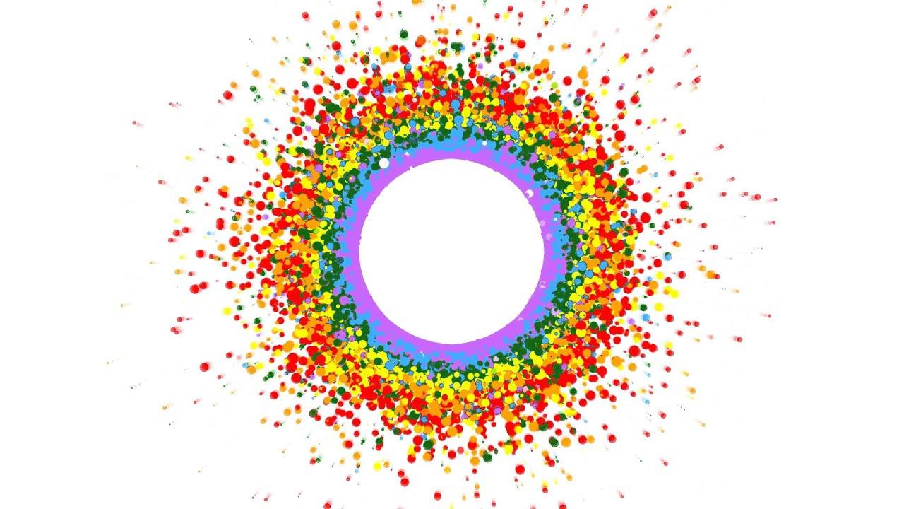 4k rainbow circle free animation background youtube