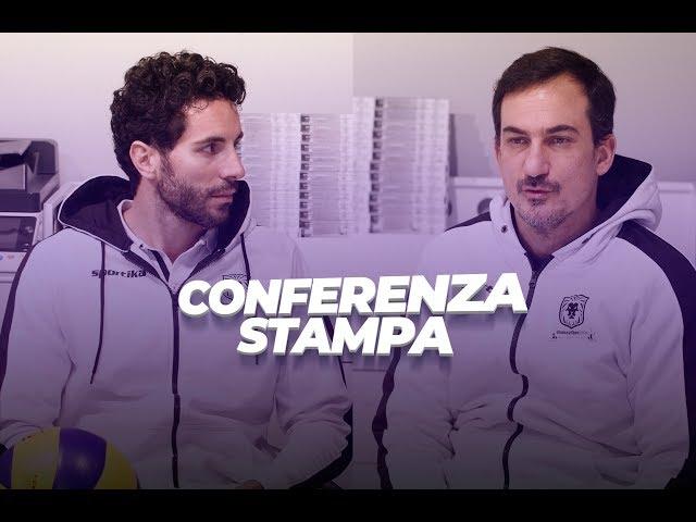 Conferenza Stampa - Coach Cichello e Gabriele Maruotti presentano il match contro BCC C. Grotte