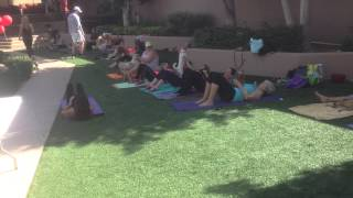 "Scottsdale Dog Training ""k9katelynn"" Participated At ""dog Yoga"" At The ""vil"