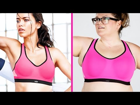Thumbnail: Women Test The Fit Of Sports Bras