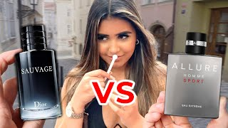 DIOR SAUVAGE vs ALLURE HOMME SPORT EAU EXTREME 🔥 Which Fragrances Is More Attractive 💋 Women Rate