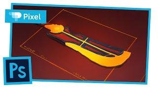 Рисуем фантастический меч в Adobe Photoshop | уроки для новичков