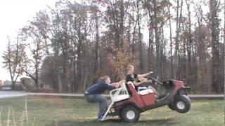 golf cart wheelie crash