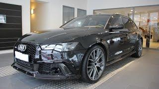 New 2016 Audi RS6 Performance 605PS- start up, rev ( Brutal sound)
