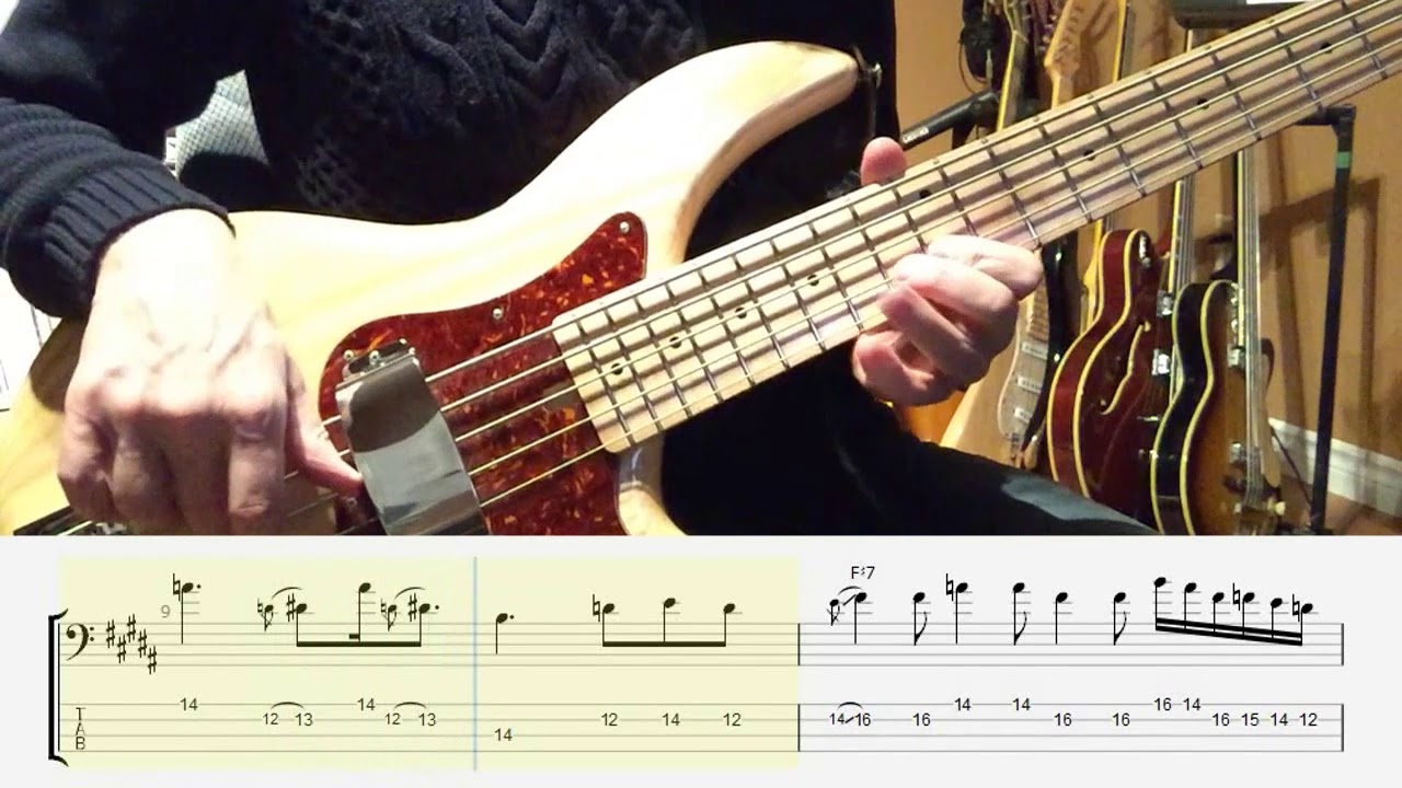 B7 Blues Bass Solo (Practice Material) - Video, mp3, Guitar Pro File & PDF
