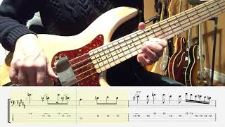 Blues Bass Solo in B - Using The Blues Scale + TAB