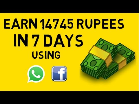 HOW TO MAKE MONEY ONLINE FAST IN HINDI/URDU -USING FACEBOOK/WHATSAPP- EARN 14745 Rs IN 7 DAYS