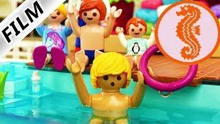 Playmobil Film Deutsch PAPA MUSS SEEPFERDCHEN MACHEN! SCHWIMMSTUNDE MIT JULIAN + EMMA Familie Vogel