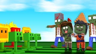 SOBREVIVA AO DESAFIO DO PLANTS VS ZOMBIES NO MINI WORLD!!