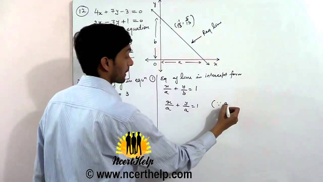 how to find point of intersection of the three lines
