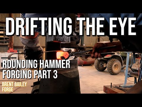Part 3  | Drifting the eye | Forging a Classic Rounding Hammer