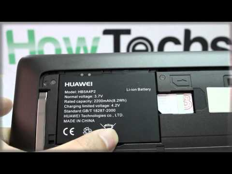 Huawei Ideos Tablet S7: Inserting the Battery