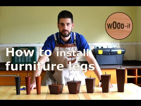 Wood Furniture Legs Installation, How To Install Furniture Legs