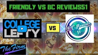 3 INNING FRIENDLY GAME VS BC REVIEWS51! THE FIRM MATCHUP! MLB THE SHOW 18!