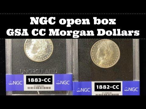 NGC Open Box Coin Grade Results  - GSA Hoard Carson City Morgan Dollars