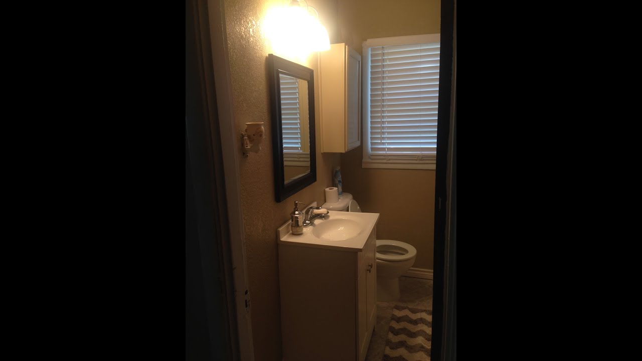Small bathroom makeover must watch youtube Small bathroom makeovers