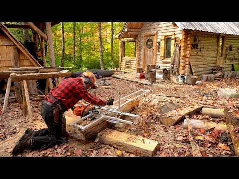 Milling a Cherry Tree with an Alaskan Chainsaw Mill