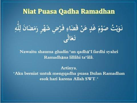 Niat Puasa Qadha Ramadhan Youtube