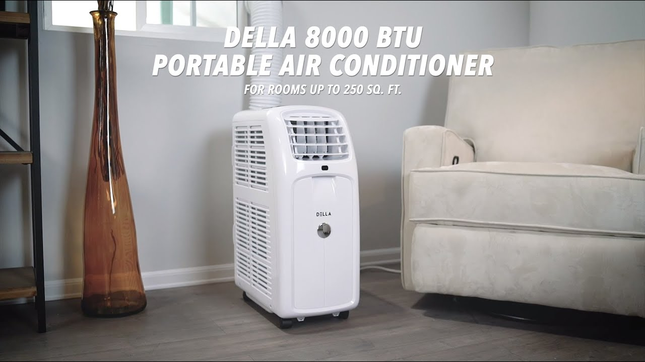 Della 8 000 Btu Portable Air Conditioner Youtube
