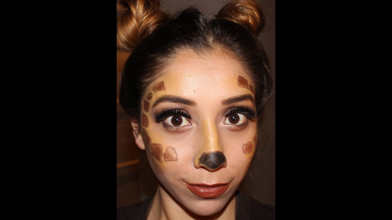 Giraffe And Bratz Doll Makeup Tutorial! Easy Halloween