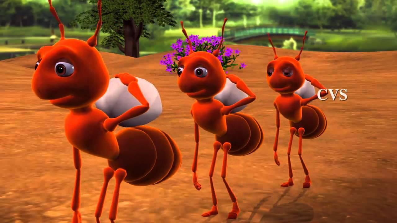cheema entho chinnadi ants 3d animation telugu rhymes for