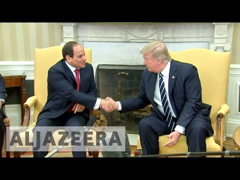 Trump meets Egypt's Sisi amid mutual admiration