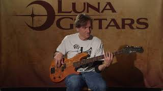 Tattoo 34 Electric Bass Guitar by Luna Guitars