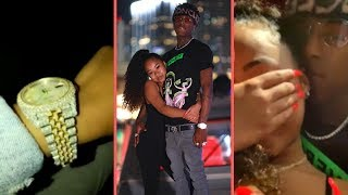 "NBA YoungBoy and His Girlfriend ""Yung Blasian"" Jonai On Thanksgiving Vacation + YB Buys Her A Watch"