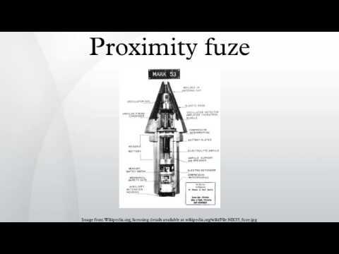 Proximity fuze
