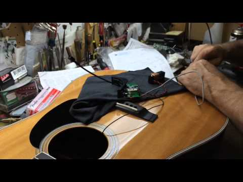 Martin Acoustic Gets A Fishman Pickup Installed