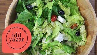 Yunan Salatası Nasıl Yapılır ? (Greek Salad) - İdil Yazar - Yemek Tarifleri