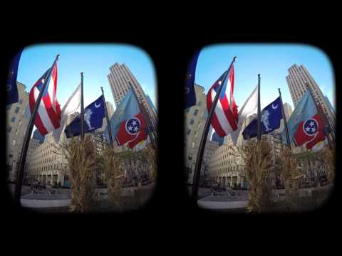 New York City in 3D virtual reality.
