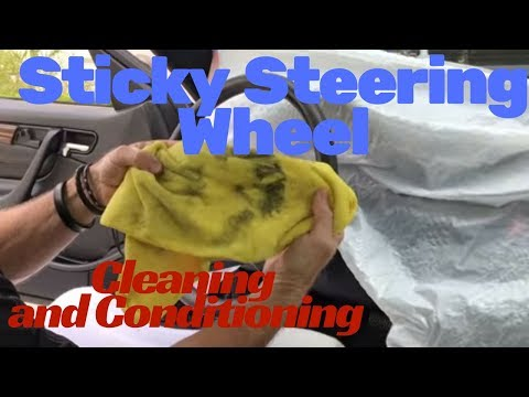 Cleaning Steering Wheel: Cleaning and conditioning sticky steering wheel