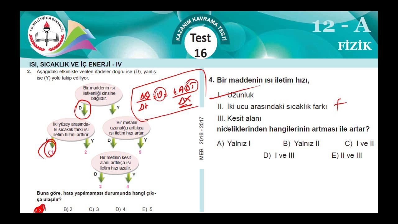 12A MEB Okul Kursu MEZUNA FİZİK K.K.Testi 16 (2016-2017) - YouTube 5dccacef47
