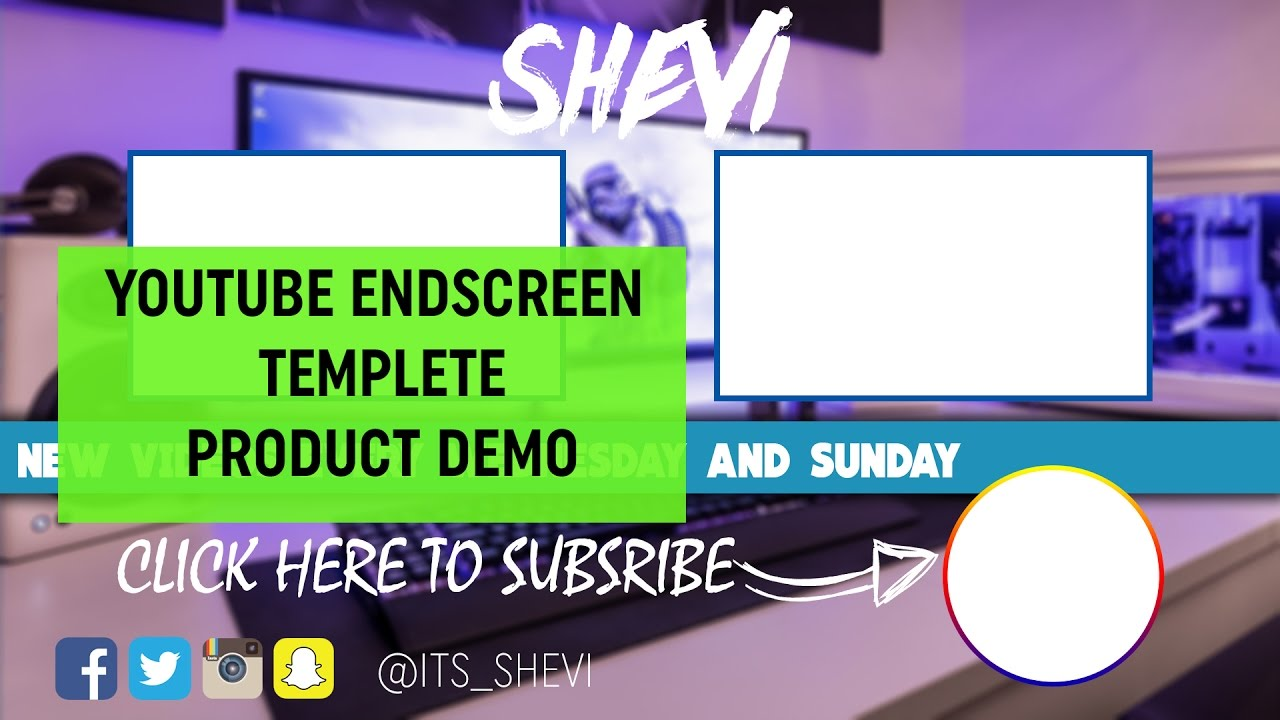 NEW YouTube End Screen Template (product demo) 2016 - YouTube