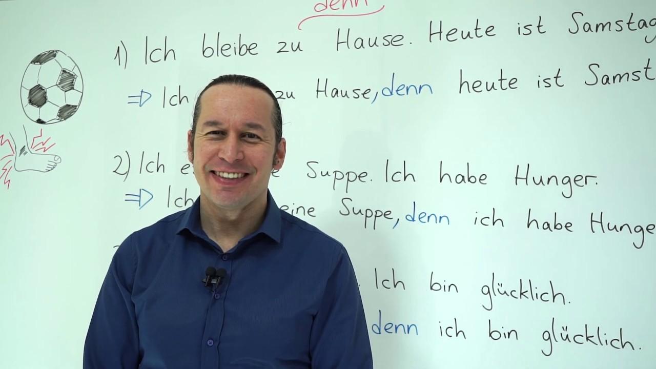 """Almanca A2 INTENSIV Ders - 4 Almanca'da """" denn """" Bağlacı ve Almanca Cümlelerde Kullanımı, Örnekler"""