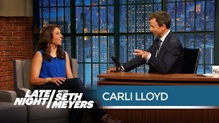 Pro Soccer Player Carli Lloyd on Male Soccer Players