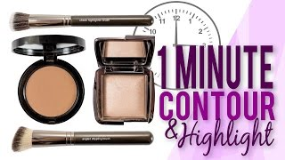 How to: Contour and Highlight in 1 Minute   Makeup Geek