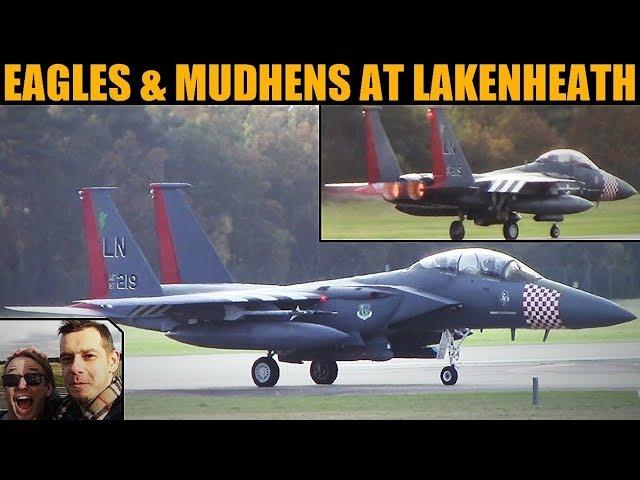 F-15C & F-15E Taxi, Takeoffs & Landings 13th Nov 2019 | RAF Lakenheath
