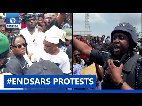 #SARSMUSTEND: Nigerian Celebrities Join Protesters In Lagos