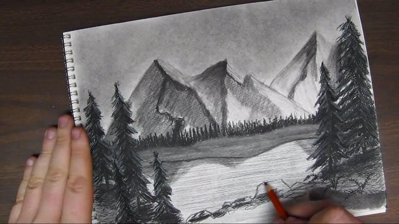 25 Easy Pencil Landscape Tutorials Pictures And Ideas On Pro Landscape