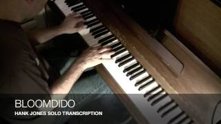 Bloomdido - Hank Jones Solo Transcription - Arnaud Quercy Piano Jazz Project Month 60