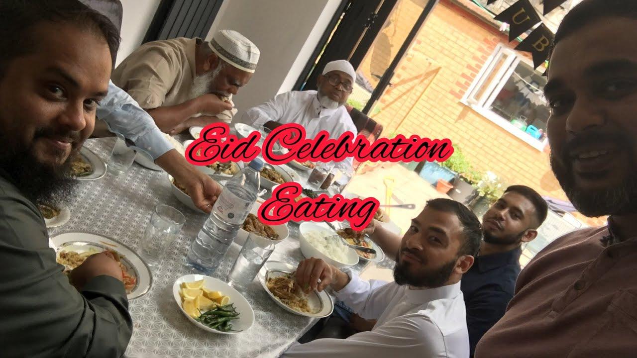 EID CELEBRATION  BENGALI FOOD EATING  FAMILY CELEBRATION  BIG BITES  TANDOORI CHICKEN  PILAU RICE