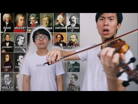 COMPOSER VIOLIN CHARADES (but we can't play the composer