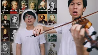 COMPOSER VIOLIN CHARADES (but we can't play the composer)