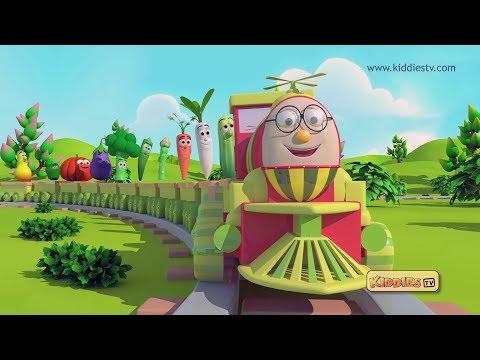 Humpty the Train Vegetables song | nursery rhyme |  kids | kindergarten | preschool | kiddiestv